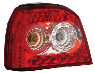 Headlights & Tail Lights - Led Tail Lights - Anzo - Volkswagen Golf Anzo LED Taillights - Red & Clear - 321078