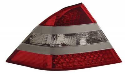 Headlights & Tail Lights - Led Tail Lights - Anzo - Mercedes-Benz S Class Anzo LED Taillights - Red & Clear - Silver Center - 321086