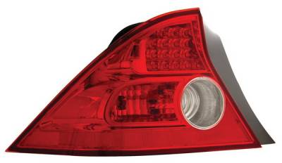 Headlights & Tail Lights - Led Tail Lights - Anzo - Honda Civic 2DR Anzo LED Taillights - Red & Clear - 321089