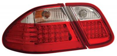 Headlights & Tail Lights - Led Tail Lights - Anzo - Mercedes-Benz CLK Anzo LED Taillights - Crystal Lens - Red & Clear - 321104