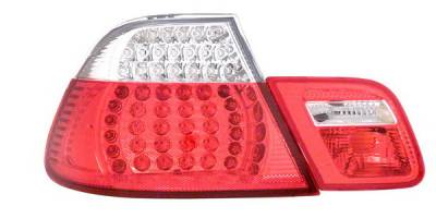 Headlights & Tail Lights - Led Tail Lights - Anzo - BMW 3 Series 2DR Anzo LED Taillights - Red & Clear - 4PC - 321105