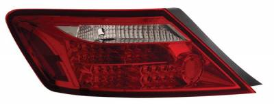 Headlights & Tail Lights - Led Tail Lights - Anzo - Honda Civic 2DR Anzo LED Taillights - Red & Clear - 321106
