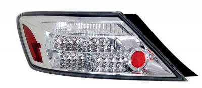 Headlights & Tail Lights - Led Tail Lights - Anzo - Honda Civic 2DR Anzo LED Taillights - Chrome - 321108