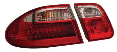 Headlights & Tail Lights - Led Tail Lights - Anzo - Mercedes-Benz E Class Anzo LED Taillights - G2 - Red & Clear - 321114