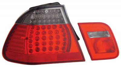 Headlights & Tail Lights - Led Tail Lights - Anzo - BMW 3 Series Anzo LED Taillights - Red & Smoke - 321123