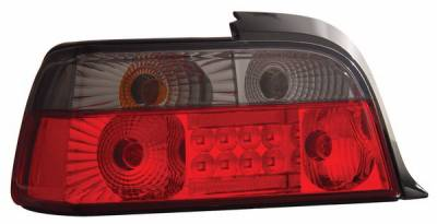 Headlights & Tail Lights - Led Tail Lights - Anzo - BMW 3 Series 2DR Anzo LED Taillights - Red & Smoke - 321124