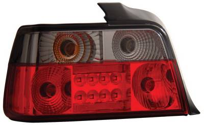Headlights & Tail Lights - Led Tail Lights - Anzo - BMW 3 Series 4DR Anzo LED Taillights - Red & Smoke - 321125