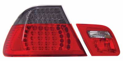 Headlights & Tail Lights - Led Tail Lights - Anzo - BMW 3 Series 2DR Anzo LED Taillights - Red & Smoke - 4PC - 321127