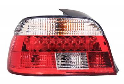 Headlights & Tail Lights - Led Tail Lights - Anzo - BMW 5 Series Anzo LED Taillights - Red & Smoke - 321128