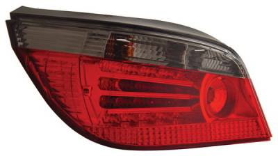 Headlights & Tail Lights - Led Tail Lights - Anzo - BMW 5 Series Anzo LED Taillights - Red & Smoke - 321129