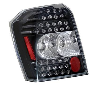 Headlights & Tail Lights - Led Tail Lights - Anzo - Dodge Caliber Anzo LED Taillights - Black - 321136