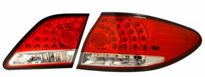 Headlights & Tail Lights - Led Tail Lights - Anzo - Lexus ES Anzo LED Taillights - Red & Clear - 4PC - 321137