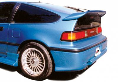 Spoilers - Custom Wing - VIS Racing - Honda CRX VIS Racing Whaletail Spoiler with Wiper Hole - without Light - 49231