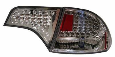 Headlights & Tail Lights - Led Tail Lights - Anzo - Honda Civic 4DR Anzo LED Taillights - All Chrome - 4PC - 321151