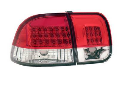 Headlights & Tail Lights - Led Tail Lights - Anzo - Honda Civic 4DR Anzo LED Taillights - Red & Clear -4PC - 321155