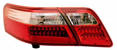 Headlights & Tail Lights - LED Tail Lights - Anzo - Toyota Camry Anzo LED Taillights - Red & Clear - 4PC - 321162