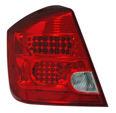 Headlights & Tail Lights - Led Tail Lights - Anzo - Nissan Sentra Anzo LED Taillights - Red & Clear - 321166