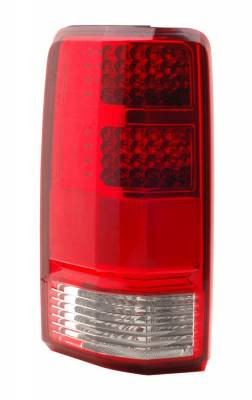 Headlights & Tail Lights - LED Tail Lights - Anzo - Dodge Nitro Anzo LED Taillights - Red & Clear - 321174