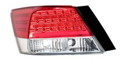 Headlights & Tail Lights - Led Tail Lights - Anzo - Honda Accord 4DR Anzo LED Taillights - Red & Clear - 321175