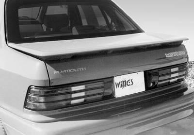 Spoilers - Custom Wing - VIS Racing - Dodge Shadow VIS Racing Factory Style Wing - 591023