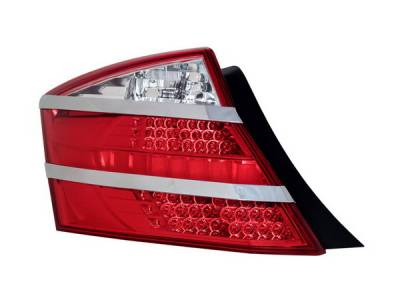 Headlights & Tail Lights - Led Tail Lights - Anzo - Honda Accord 2DR Anzo LED Taillights - Red & Clear - 321182