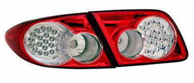 Headlights & Tail Lights - Led Tail Lights - Anzo - Mazda 6 Anzo LED Taillights - Red & Clear - 4PC - 321183