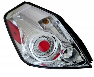 Headlights & Tail Lights - LED Tail Lights - Anzo - Nissan Altima Anzo LED Taillights - Chrome - 321184