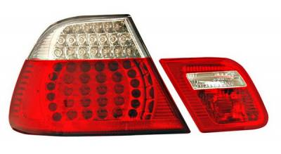 Headlights & Tail Lights - Led Tail Lights - Anzo - BMW 3 Series Anzo LED Taillights - Red & Clear - 4PC - 321185