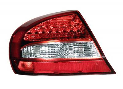 Headlights & Tail Lights - LED Tail Lights - Anzo - Chrysler Sebring 2DR Anzo LED Taillights - Red & Clear - 321187