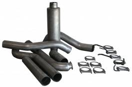 Exhaust - Custom Fit Exhaust - Bully Dog - GMC Sierra Bully Dog Single Turbo Back Exhaust Kit with Tip - Aluminized Steel - 83010