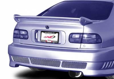Spoilers - Custom Wing - VIS Racing - Honda Civic 2DR VIS Racing Mini-Me Commando Wing without Light - 591529