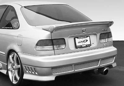 Spoilers - Custom Wing - VIS Racing - Honda Civic 2DR VIS Racing Mini-Me Commando Wing without Light - 591531