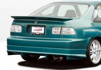 Spoilers - Custom Wing - VIS Racing - Honda Civic 2DR VIS Racing Flushmount Whaletail Wing - 591557