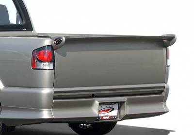 Spoilers - Custom Wing - VIS Racing - Chevrolet S10 VIS Racing Mini-Me Commando Tailgate Spoiler - 591587