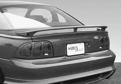 Spoilers - Custom Wing - VIS Racing - Ford Mustang VIS Racing Factory Wrap Around Wing without Light - 960014