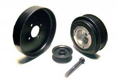 Performance Parts - Pulleys - Auto Specialties - Auto Specialties Harmonic Balancer Pulley with 25 Percent Reduction - Full Charge 950 RPM - Nitride - 527328