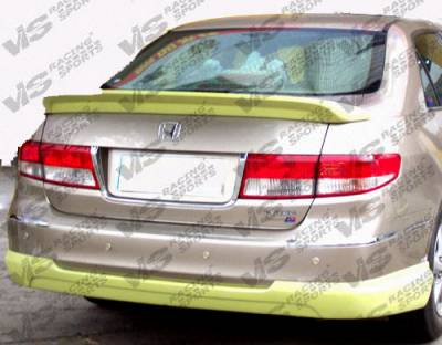 Spoilers - Custom Wing - VIS Racing - Honda Accord 4DR VIS Racing Techno R Spoiler - 03HDACC4DTNR-003