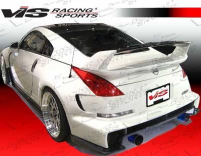 Spoilers - Custom Wing - VIS Racing - Nissan 350Z VIS Racing AMS Rear Spoiler with Carbon Center Deck - 03NS3502DAMS-003CC