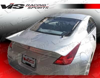 Spoilers - Custom Wing - VIS Racing - Nissan 350Z VIS Racing Invader Type 2 Carbon Fiber Spoiler - 03NS3502DINV2-003C