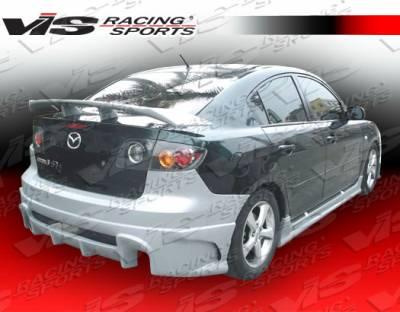 Spoilers - Custom Wing - VIS Racing - Mazda 3 4DR VIS Racing Laser Spoiler - 04MZ34DLS-003