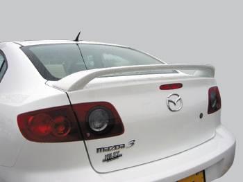 Spoilers - Custom Wing - VIS Racing - Mazda 3 4DR VIS Racing Factory Style Spoiler Flushmount - 04MZ34DOE1-003
