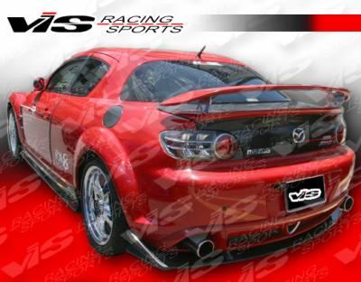 Spoilers - Custom Wing - VIS Racing - Mazda RX-8 VIS Racing Magnum Carbon Fiber Spoiler - 04MZRX82DMAG-003C