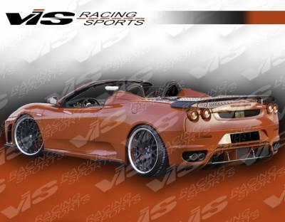 Spoilers - Custom Wing - VIS Racing - Ferrari F430 VIS Racing Euro Tech Carbon Spoiler - 05FR4302DET-003C