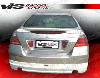 Spoilers - Custom Wing - VIS Racing - Honda Accord 4DR VIS Racing Techno R Spoiler - 06HDACC4DTNR-003
