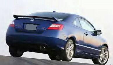 Spoilers - Custom Wing - VIS Racing - Honda Civic 2DR VIS Racing Factory Style Spoiler - 06HDCVC2DOE-003