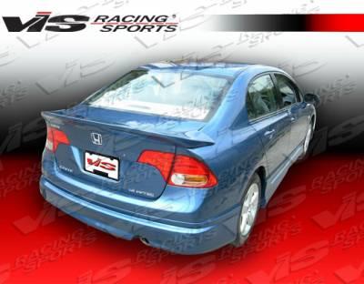Spoilers - Custom Wing - VIS Racing - Honda Civic 4DR VIS Racing Fuzion Spoiler - 06HDCVC4DFUZ-003