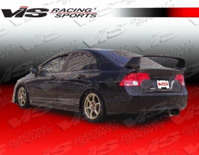 Spoilers - Custom Wing - VIS Racing - Honda Civic 4DR VIS Racing Techno R Spoiler - 06HDCVC4DTNR-003