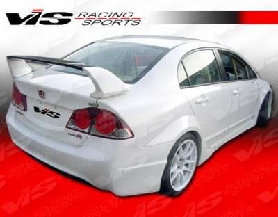 Spoilers - Custom Wing - VIS Racing - Honda Civic 4DR VIS Racing Type R Concept Spoiler - 06HDCVC4DTRC-003