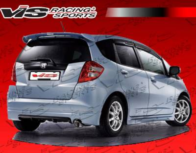 Spoilers - Custom Wing - VIS Racing - Honda Fit VIS Racing Techno R Roof Spoiler - 09HDFIT4DTNR-023