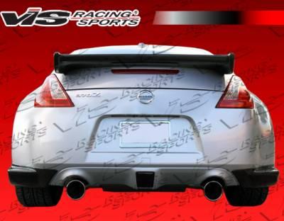 Spoilers - Custom Wing - VIS Racing - Nissan 370Z VIS Racing Techno R Spoiler - Carbon Fiber - 09NS3702DTNR-003C